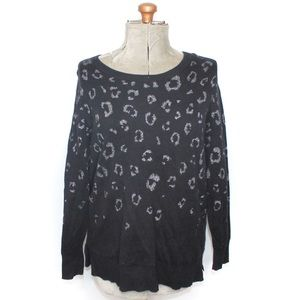 Love & Legend Black Cheetah Print Sweater 1X